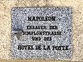 Napoleon Gedenktafel, Hotel Post in Simplon Dorf, Wallis (Schweiz).jpg