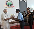 Narendra Modi at 'Shauryanjali', a commemorative exhibition on Golden Jubilee of 1965 war, at India Gate, in New Delhi. The Chief of the Air Staff, Air Chief Marshal Arup Raha and the Chief of Army Staff (1).jpg