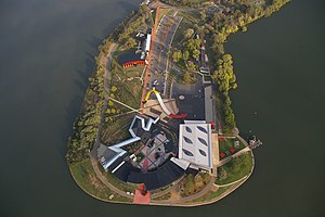 National Museum of Australia - Aerial view of the museum on Acton Peninsula