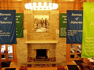 National Park Service training centers - Lobby of the 'Commons' at the National Conservation Training Center