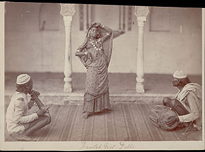 Nautch - Nautch girl performing (1862)