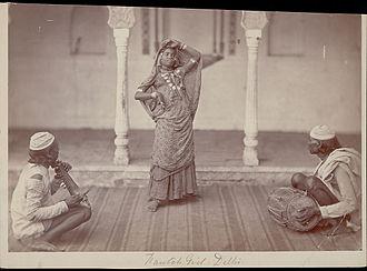 Nautch - A Nautch girl performing, 1862