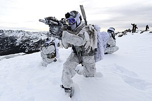 Cold-weather warfare - Image: Navy Seals Winter warfare at Mammoth Mountain, California, in December 2014