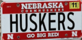 Nebraska Huskers license plate form 2011-2016 from Harley Horton Private Collection.png