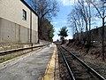 Needham Heights station platform (1), March 2016.JPG