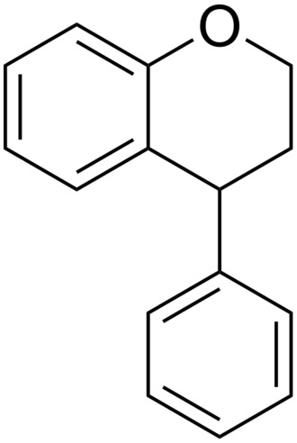Neoflavonoid - Structure of the neoflavonoids backbone (neoflavan represented)