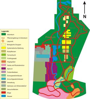 Plan des neuen botanischen gartens