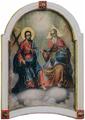 New Testament Trinity Toma Vishanov Budakalasz Saint Gabriel Church Icon.png