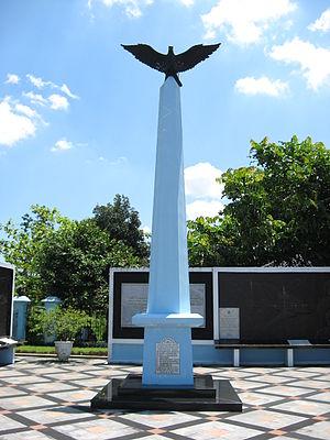 Dakota VT-CLA - Memorial to the crash, in Ngoto