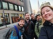 Nicole, Ryan, Bhav, Rob, Cornelius in London for Wikimedia Summit planning meeting, January 2020.jpg