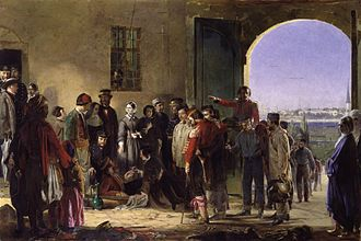 1858 in art - Image: Nightingale receiving the Wounded at Scutari by Jerry Barrett