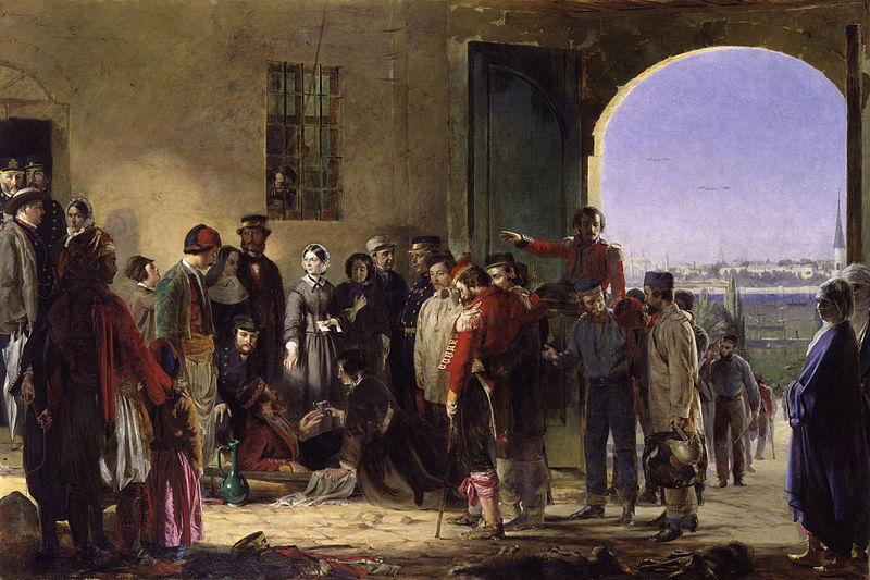 File:Nightingale receiving the Wounded at Scutari by Jerry Barrett.jpg