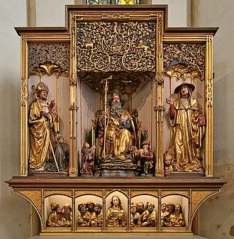 Nikolaus Hagenauer - Interior of the Isenheim Altarpiece (c. 1500), attributed to Nikolaus Hagenauer