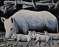 Niko Pirosmani. «White Sow with Piglets». Oil on cardboard, 80x100 cm. The State Museum of Fine Arts of Georgia, Tbilisi.jpg