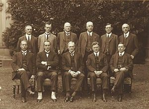 Llewellyn Atkinson - Atkinson in Stanley Bruce's second ministry, standing on far right