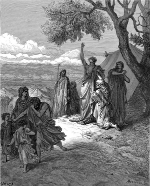 Noah cursing Canaan (illustration by Gustave D...