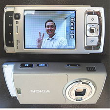 The Nokia N95, an example of Nokia's Nseries multimedia computer lineup.