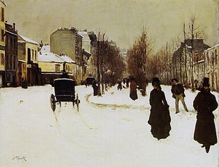 The Boulevard de Clichy under Snow