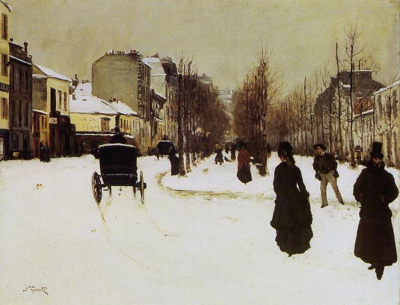 Datei:Norbert Gœneutte - Le Boulevard de Clichy par temps de neige.jpg