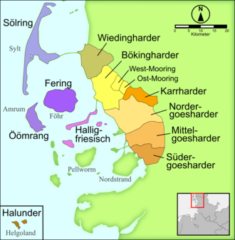 Öömrang - Image: Nordfriesische Dialekte