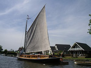 Wherry - A Norfolk wherry on the River Bure.