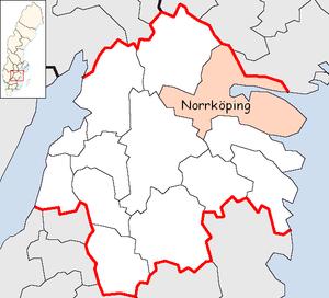 Norrköping Municipality - Image: Norrköping Municipality in Östergötland County