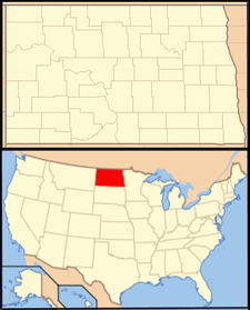 Amidon is located in North Dakota
