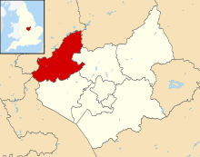 North West Leicestershire UK locator map.svg