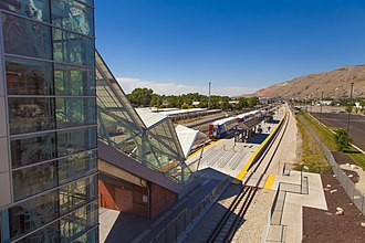 North Temple Bridge/Guadalupe (UTA station) - The Elevator and Escalator between the FrontRunner and TRAX station platforms