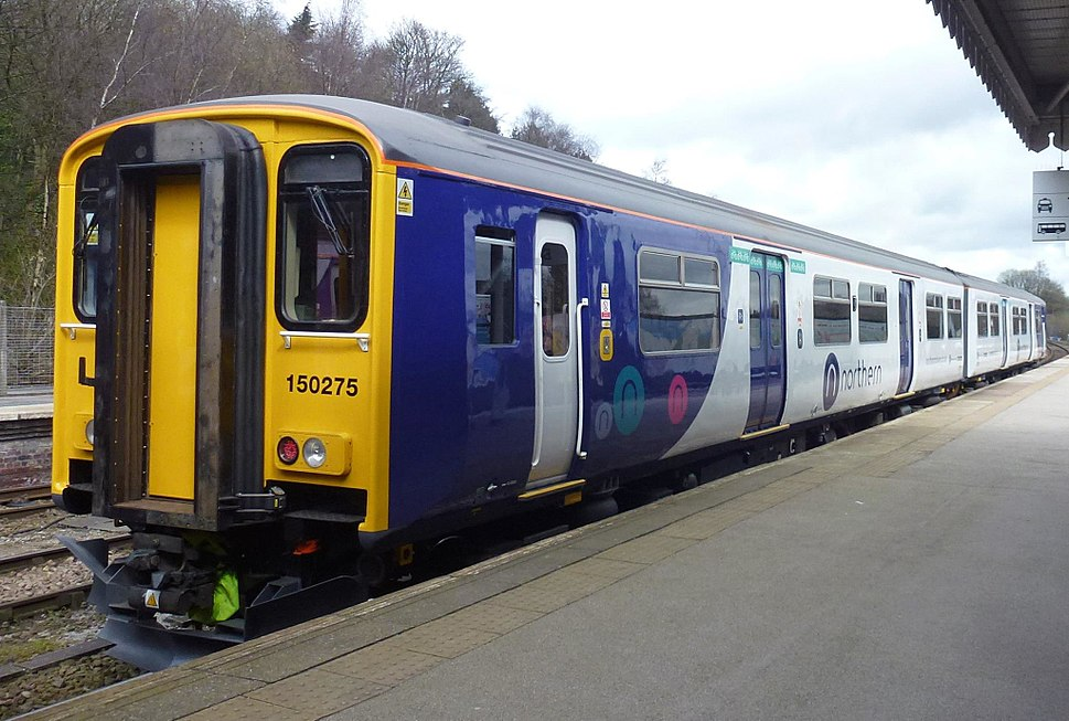Northern 150275 at Buxton, April 2017