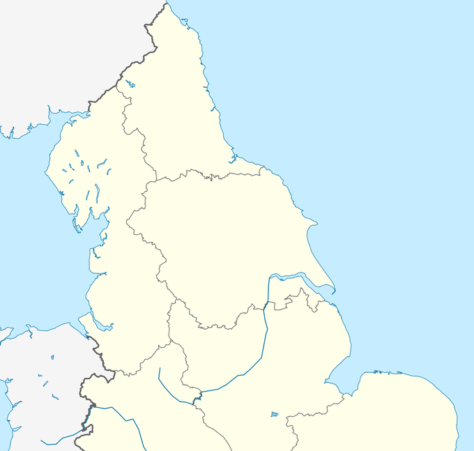 2019–20 Northern Premier League is located in Northern England