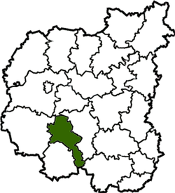 Location of Nosivkas rajons