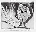 Notenkraker 27e jaargang nr 12 25 maart 1933 Tekening van Albert Funke Kuepper die De Notenkraker laat zeggen Waarom zoo bang voor de wapenen van den geest Hanteer ze dan zelf.jpg