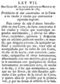 Novisima recopilación de las Leyes de España - Ley VII - 27 de septiembre de 1765.png