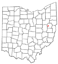 Location of Dellroy, Ohio