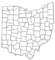 Location of Dillonvale, Jefferson County, Ohio