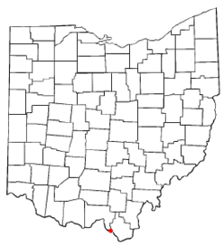 Location of Hanging Rock, Ohio