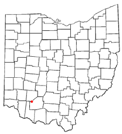 Location of Lynchburg, Ohio