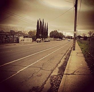 Oak Park, Sacramento, California - Martin Luther King Jr. Blvd. in Oak Park (December 2014)
