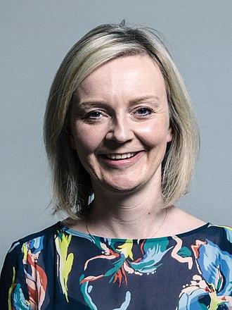 Chief Secretary to the Treasury - Image: Official portrait of Elizabeth Truss crop 2