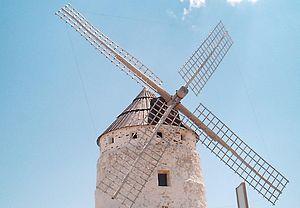 Ojos Negros, Teruel - A windmill in Ojos Negros