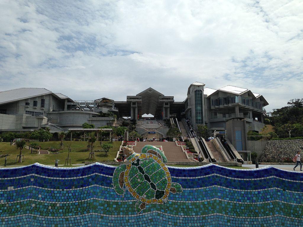 Okinawa Churaumi Aquarium from west