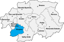 Okrug Krupina location map