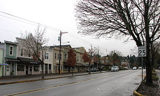 West Linn, Oregon - Historic Willamette Business District.