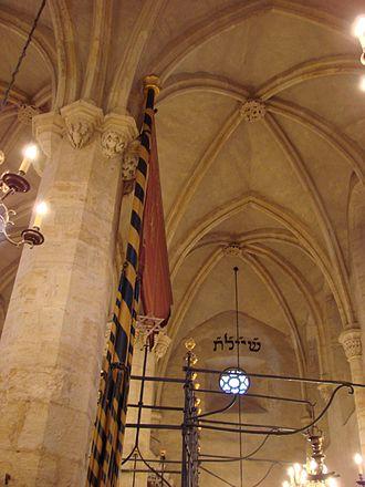 Old New Synagogue - Synagogue interior.