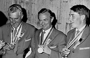 Christian von Bülow - Ole Berntsen, Christian von Bülow (center) and Ole Poulsen at the 1964 Olympics