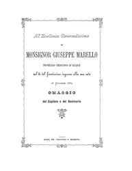 All'Eccellenza Reverendissima di monsignor Giuseppe Marello novello vescovo di Acqui nel dì del faustissimo ingresso alla sua sede 16 giugno 1889