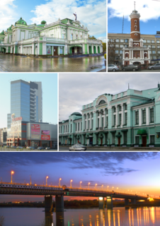 Omsk City in Russia