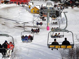 Tsaghkadzor ski resort - A view of the ski lifts
