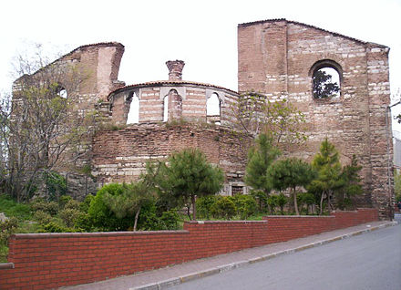 Remaining walls of Monastery of Stoudios in modern-day Istanbul.